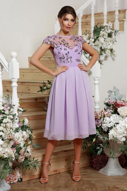 нарядное платье лавандового цвета. Платье Айседора б/р. Цвет: лавандовый