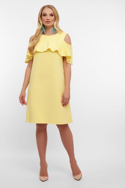 батальное желтое платье. платье Ольбия-Б б/р. Цвет: желтый