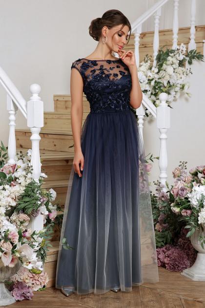 бордовое вечернее платье. платье Августина б/р. Цвет: синий