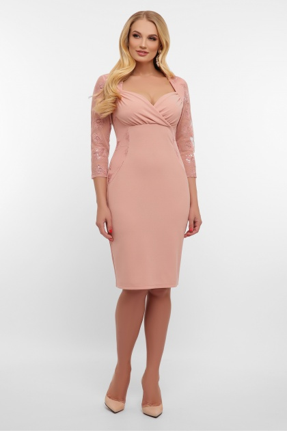 лиловое платье больших размеров. платье Сусанна-1Б д/р. Цвет: лиловый