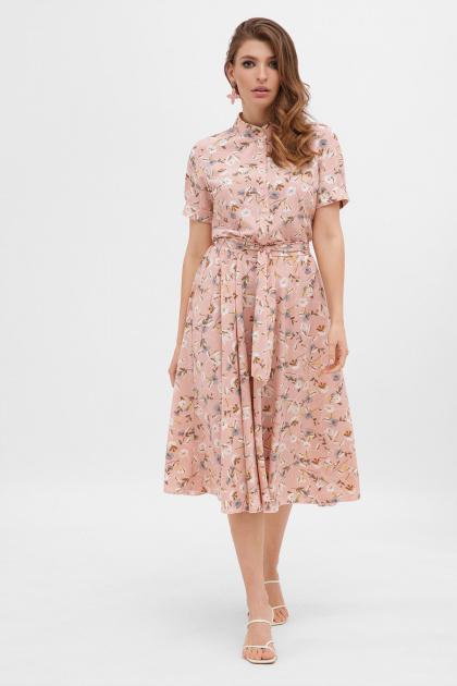 . платье Изольда к/р. Цвет: персик-цветы