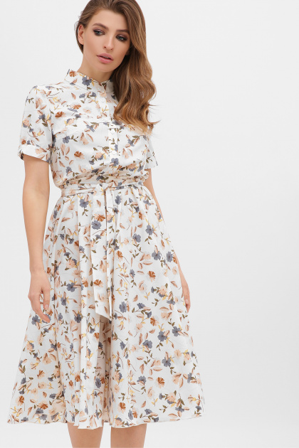 . платье Изольда к/р. Цвет: молоко-цветы