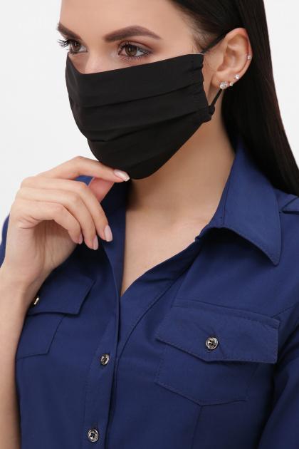 тканевая маска в горошек. Маска №1. Цвет: черный