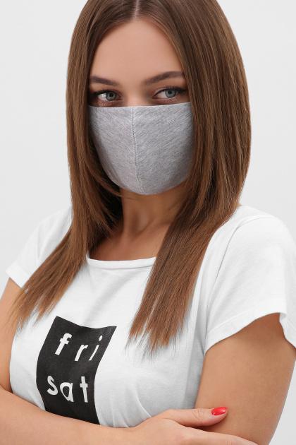 трикотажная синяя маска. Маска №5. Цвет: св. серый
