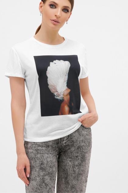 белая футболка с перьями. черный-Перья белые футболка Boy-2. Цвет: белый