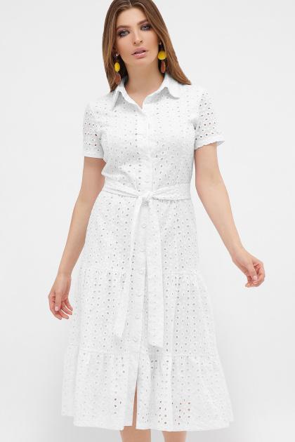 белое платье из прошвы. платье Уника к/р. Цвет: белый