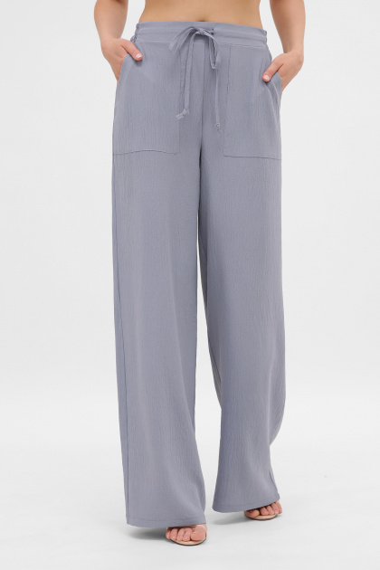 легкие синие брюки. брюки Тилли. Цвет: св.джинс