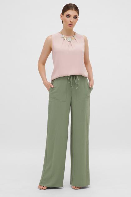 летние бежевые брюки. брюки Тилли. Цвет: св.хаки