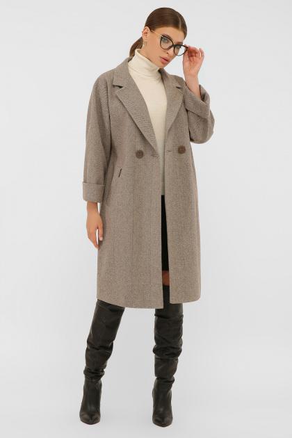. Пальто П-300-100. Цвет: 2326-коричневый