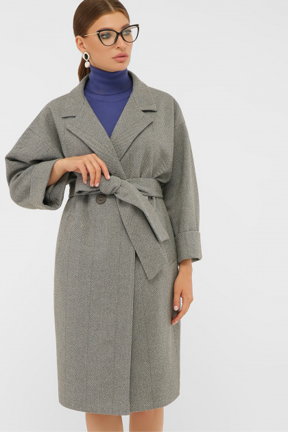 . Пальто П-300-100. Цвет: 2325-серый