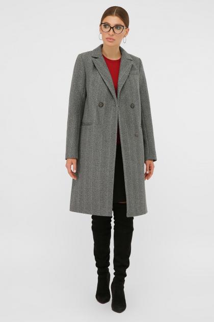 . Пальто П-394-95. Цвет: 2709-серый