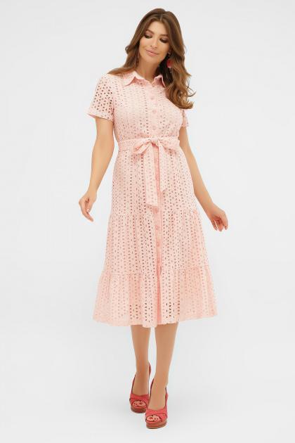 желтое платье на пуговицах. платье Уника 1 к/р. Цвет: персик