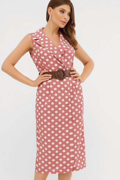 синее платье в белый горошек. платье Нарина б/р. Цвет: т.розовый-белый горох