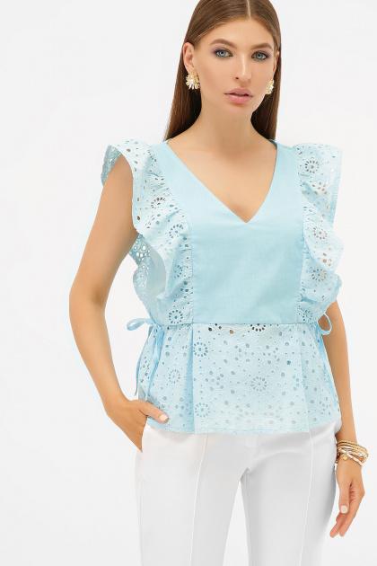 голубая летняя блузка. блуза Илари б/р. Цвет: голубой