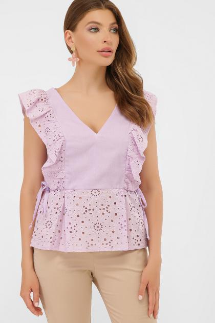 голубая летняя блузка. блуза Илари б/р. Цвет: лавандовый