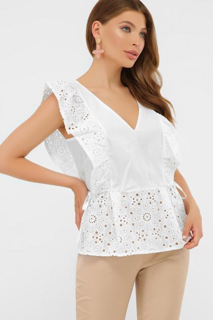 голубая летняя блузка. блуза Илари б/р. Цвет: белый