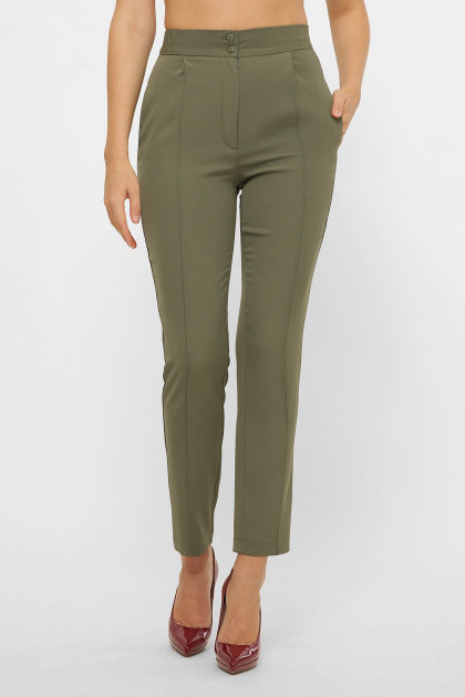 лиловые брюки 7/8. брюки Бенжи 1. Цвет: хаки