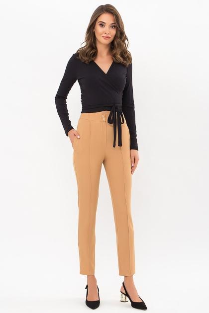 лиловые брюки 7/8. брюки Бенжи 1. Цвет: песочный