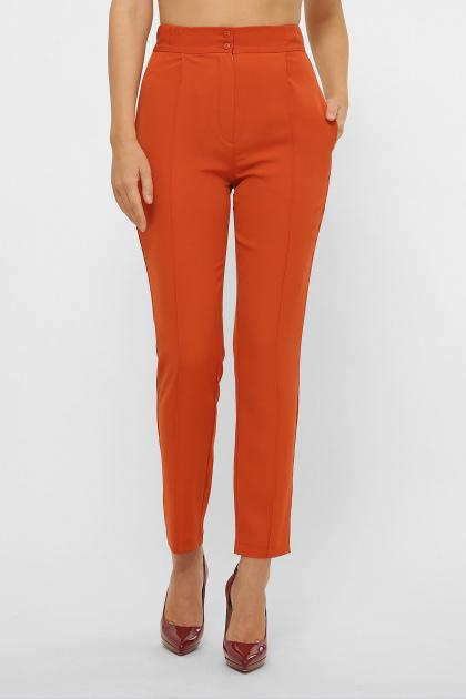 лиловые брюки 7/8. брюки Бенжи 1. Цвет: терракот