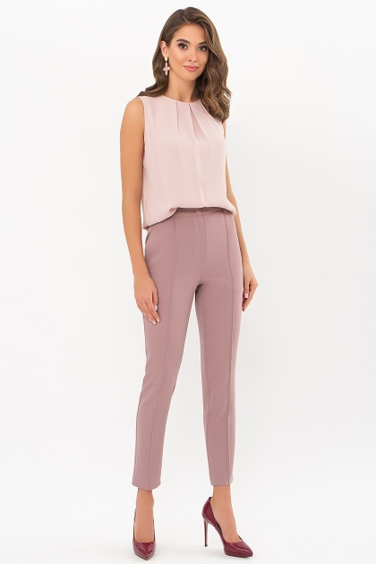 лиловые брюки 7/8. брюки Бенжи 1. Цвет: лиловый