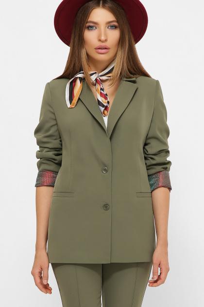женский пиджак хаки. пиджак Патрик 2. Цвет: хаки