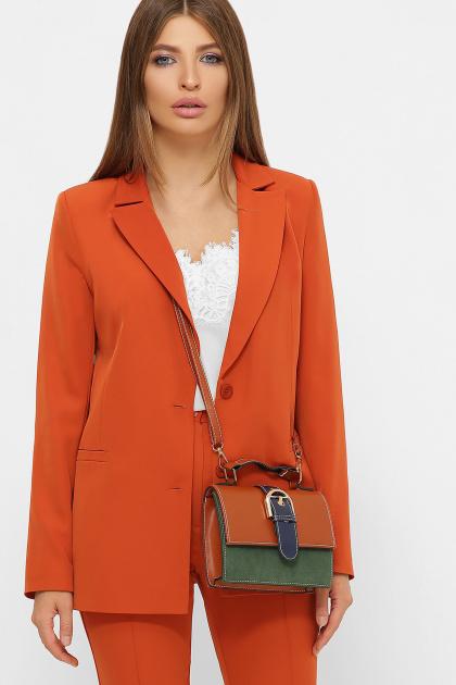 женский пиджак хаки. пиджак Патрик 2. Цвет: терракот