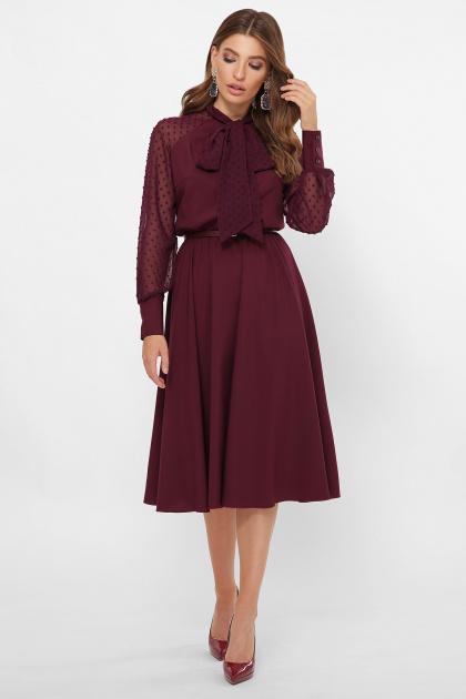 . платье Аля-1д/р. Цвет: бордо