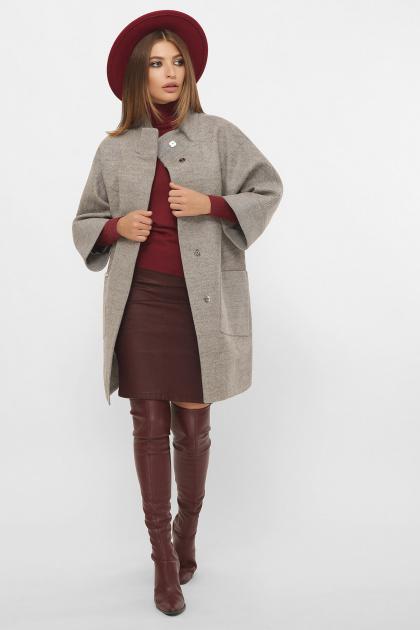 . Пальто MS-229. Цвет: 65-серый