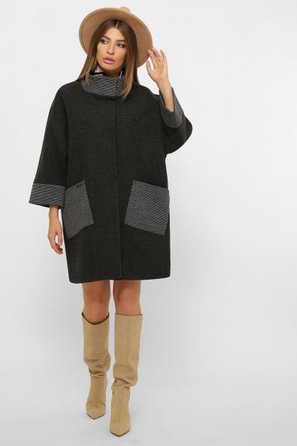 . Пальто MS-229. Цвет: 169-т.серый