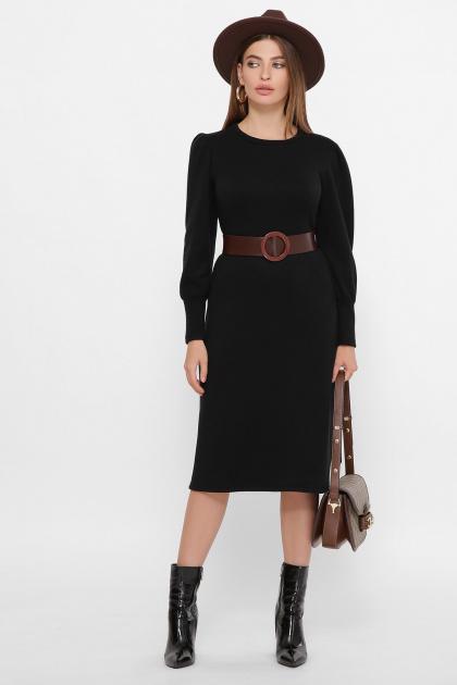 терракотовое платье из ангоры. платье Жизель д/р. Цвет: черный