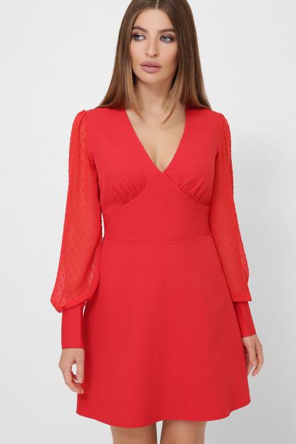 . платье Делила д/р. Цвет: красный