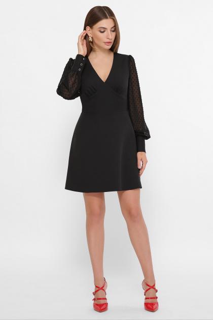 . платье Делила д/р. Цвет: черный