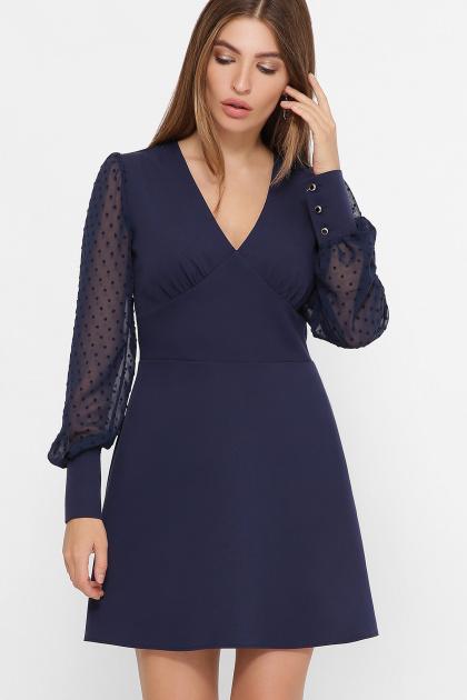 . платье Делила д/р. Цвет: синий