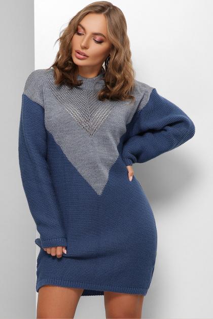 . Платье 181. Цвет: светлый джинс-синий