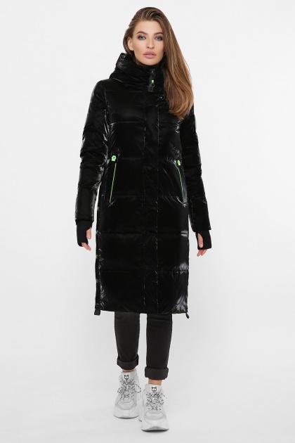 . Куртка 2102. Цвет: 01-черный-зеленый