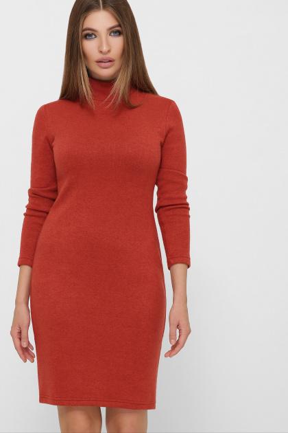 . платье-гольф Алена1 д/р. Цвет: терракот