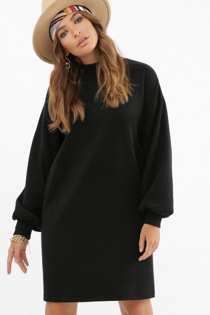 горчичное платье из ангоры. платье Талита д/р. Цвет: черный