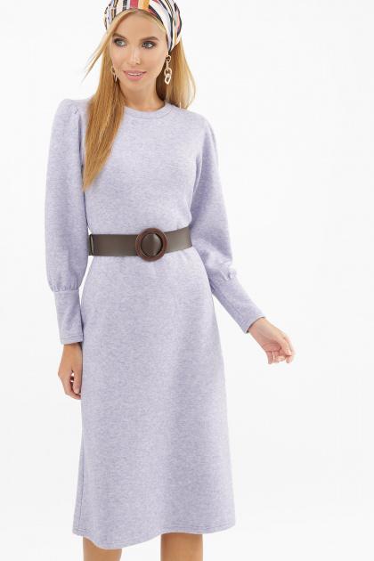 терракотовое платье из ангоры. Платье Жизель д/р. Цвет: лавандовый