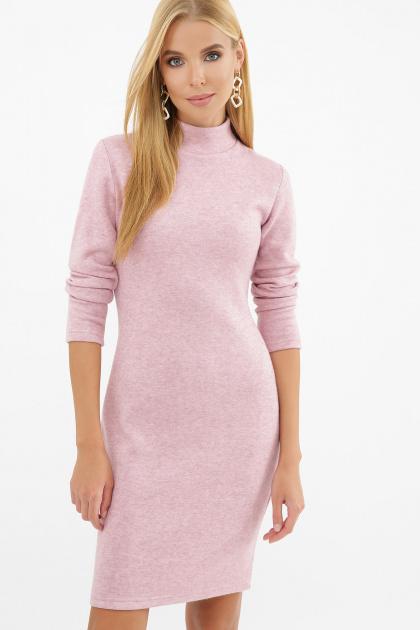 платье-гольф из ангоры. Платье-гольф Алена1 д/р. Цвет: розовый
