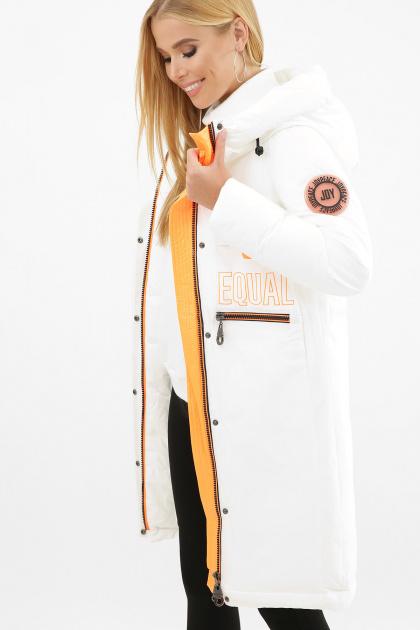 . Куртка 297. Цвет: 26-белый-оранжевый