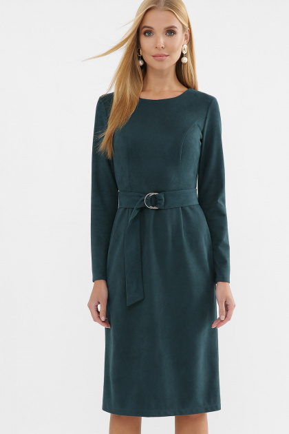 . Платье Гелия д/р. Цвет: изумруд