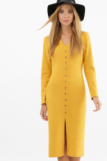 . платье Альвия д/р. Цвет: горчица