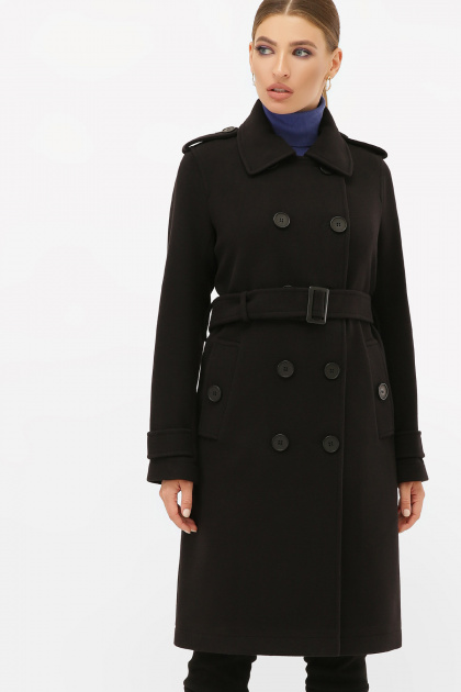 . Пальто П-412-100. Цвет: 161-черный