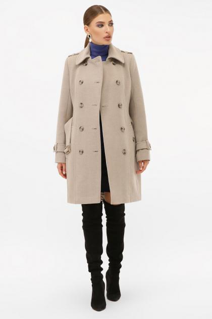 . Пальто П-414-90. Цвет: 047-св.серый