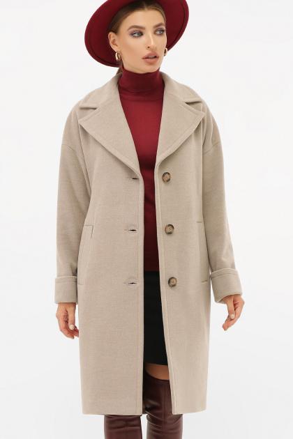 . Пальто П-408-100. Цвет: 047-св.серый