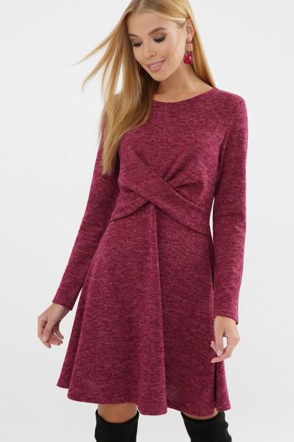 персиковое платье на осень-зиму. Платье Дафна д/р. Цвет: бордо