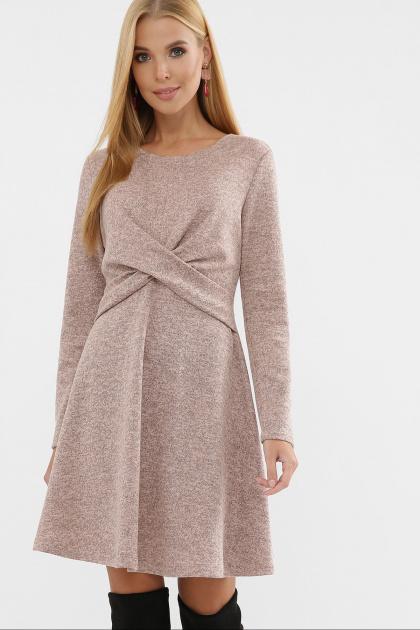 персиковое платье на осень-зиму. Платье Дафна д/р. Цвет: персик