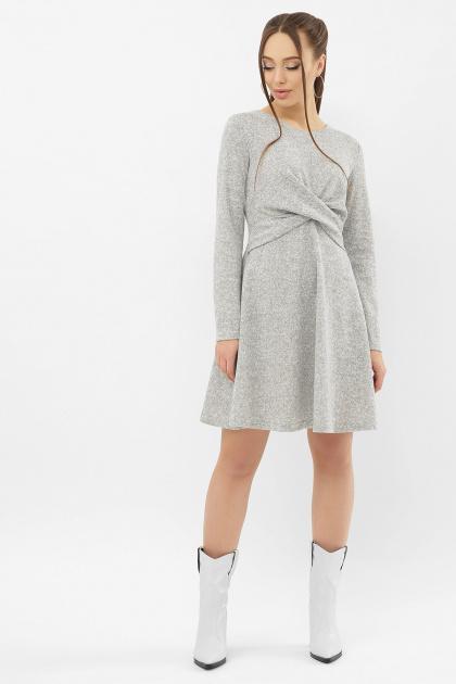персиковое платье на осень-зиму. Платье Дафна д/р. Цвет: серый