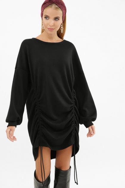 терракотовое платье с длинным рукавом. Платье Диля д/р. Цвет: черный