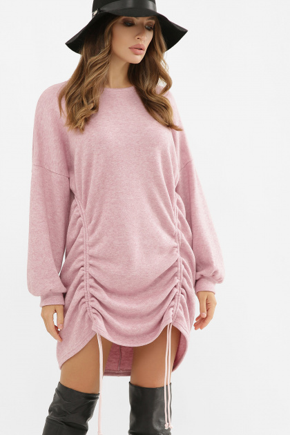 терракотовое платье с длинным рукавом. Платье Диля д/р. Цвет: розовый